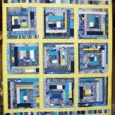 Partly Cloudy Modern Quilt Handmade