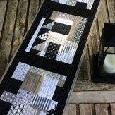 Pepper Table Runner Modern Quilt Handmade