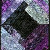 Purple Batik Modern Quilt Table Runner Handmade