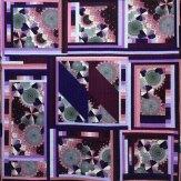 Purple Obsession Modern Quilt Handmade