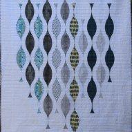 Retro Strands Modern Quilt Handmade