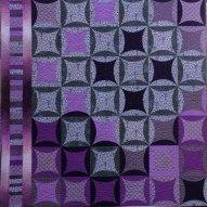 Scottish Thistle Modern Quilt Handmade