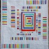 Strip Code Modern Quilt Handmade