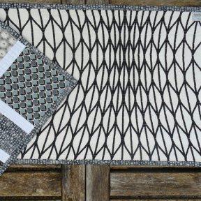 Tiles Modern Quilt Table Runner Handmade