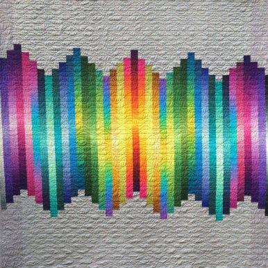 Wavelength Modern Quilt Handmade