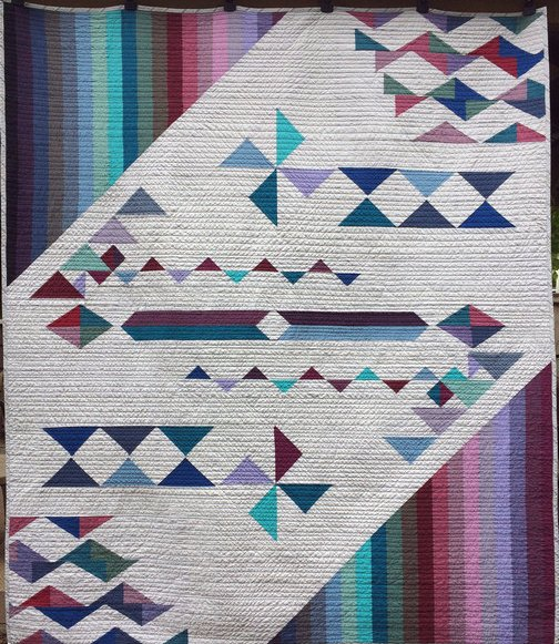 Wind Catcher Modern Quilt Handmade
