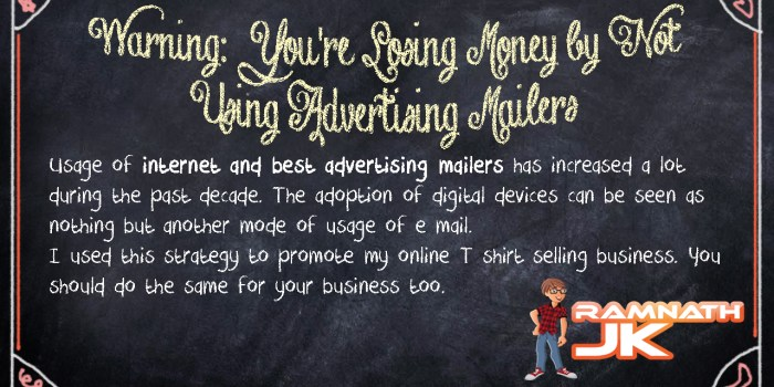 Internet And Best Advertising Mailers