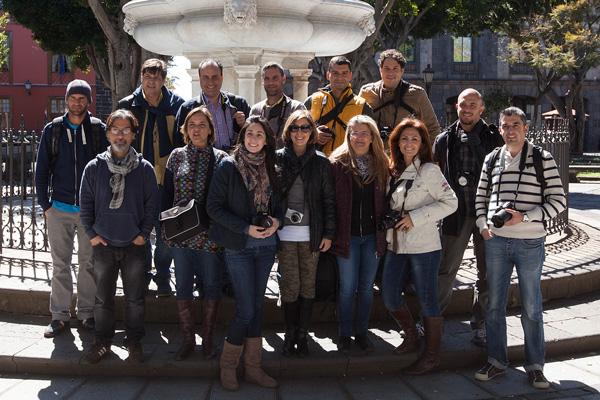 Alumnos del Curso Básico de Fotografía Digital celebrado el pasado fin de semana en Tenerife