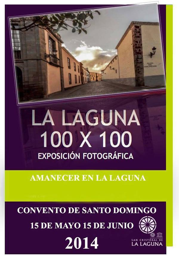 Cartel de la exposición La Laguna 100 x 100