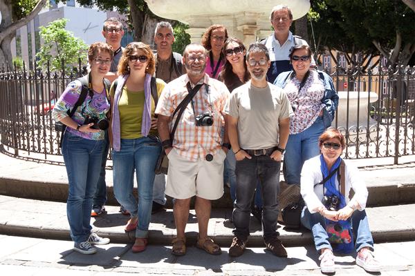 Alumnos del Curso Básico de Fotografía Digital celebrado en Tenerife