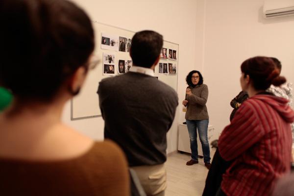 Un momento del taller de Sofía Moro el pasado fin de semana en la escuela Lens de Madrid