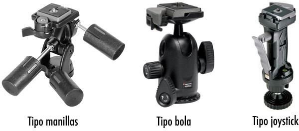 Tipos de cabezales para fotografía