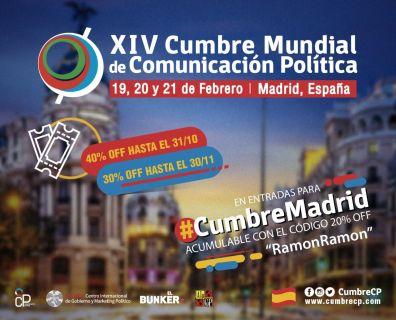 Descuento Cumbre Mundial Comunicación Política