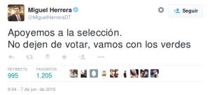 Tuit seleccionador Mexico vendido