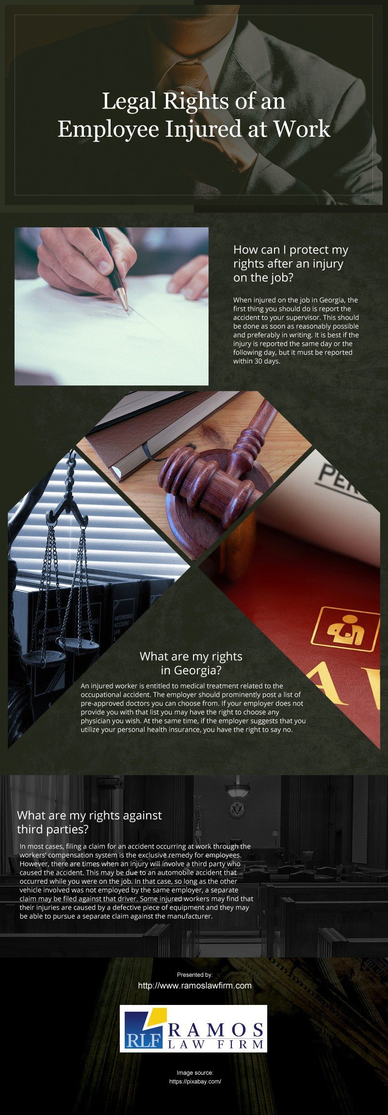 Legal Rights of an Employee Injured at Work [infographic]