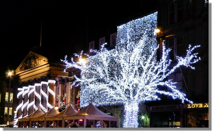 Image result for festive lighting edinburgh