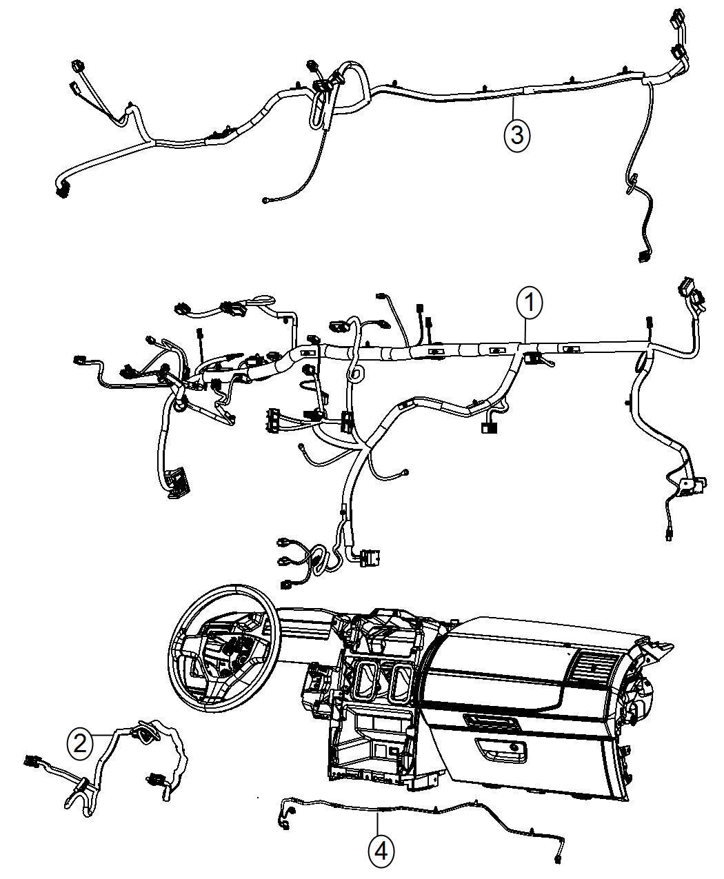 Ram C V Wiring Jumper Instrument Panel Rbz Or Rhb