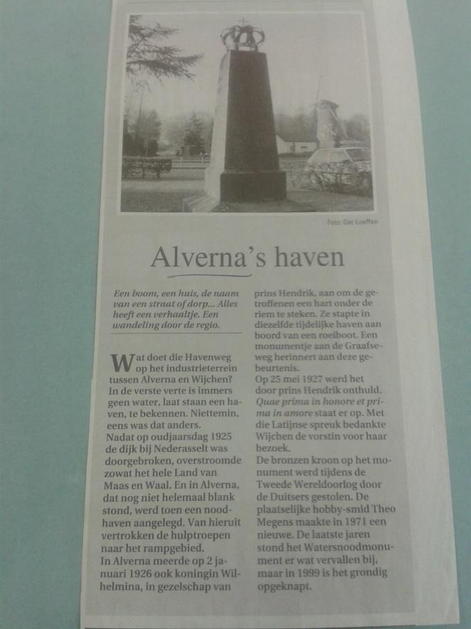 Monument in Alverna by Astrid Parys (A Bike ride Down Memory Lane)