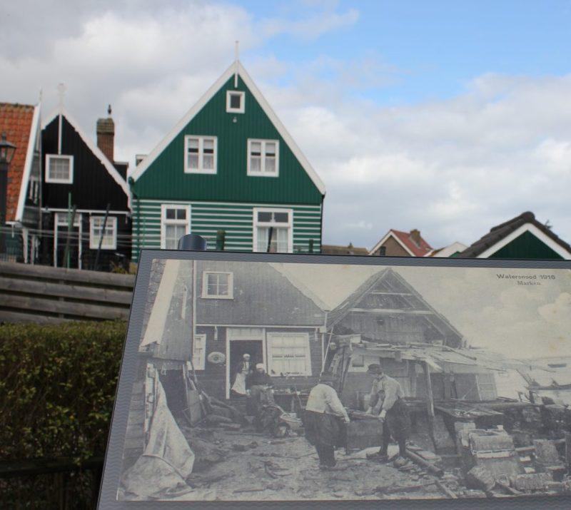 Foto 2: Watersnood 1916 op Marken door Bob van Helden (100 jaar droge voeten)