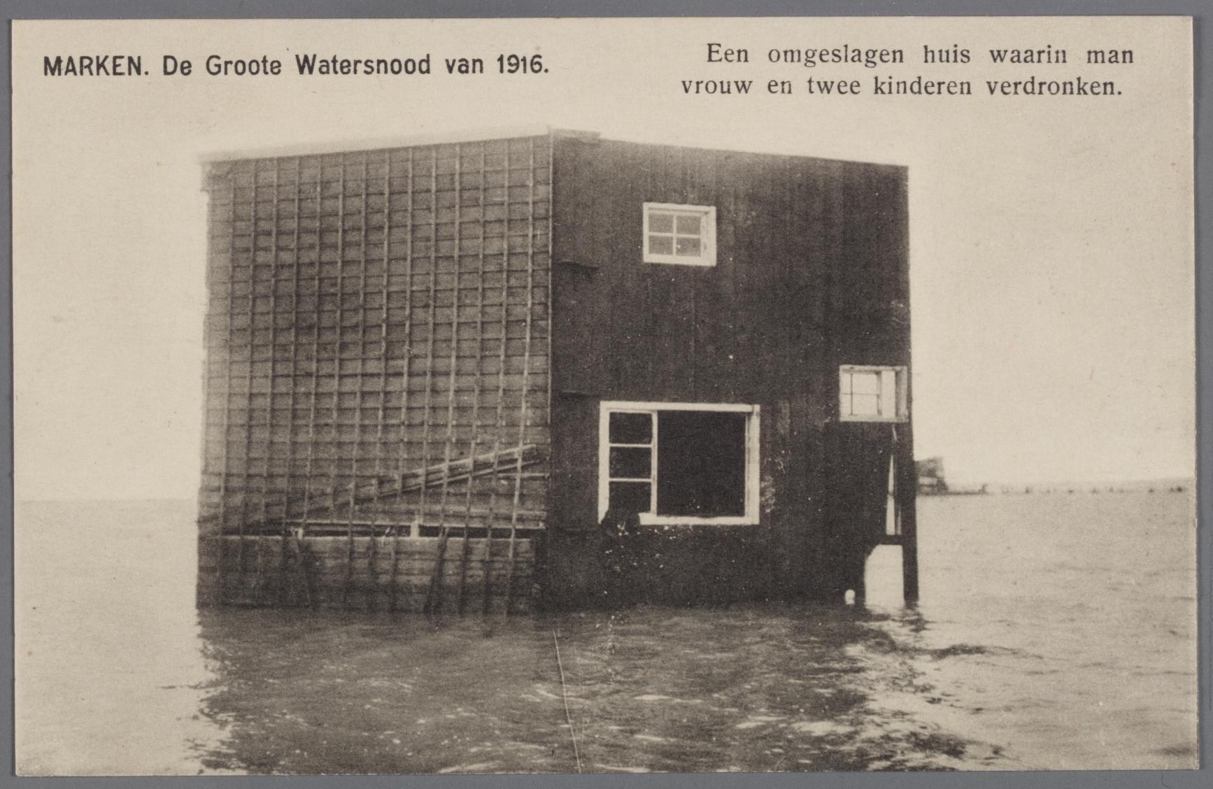 MARKEN. De Groote Watersnood van 1916. Collectie Zuiderzeemuseum (100 jaar droge voeten)