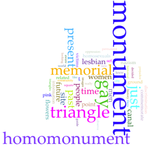 The Homomonument a site of a human disaster by Giulia Traversari Wordcloud
