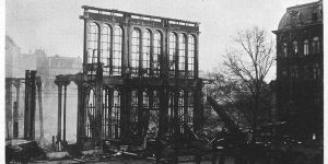 Ruins of the Paleis voor Volksvlijt, photographed in Amsterdam, April 1929. via wikimedia