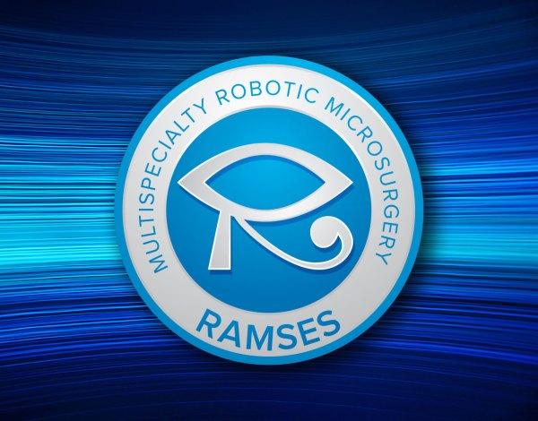 RAMSES logo on blue background