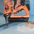 Attach drywall track to concrete