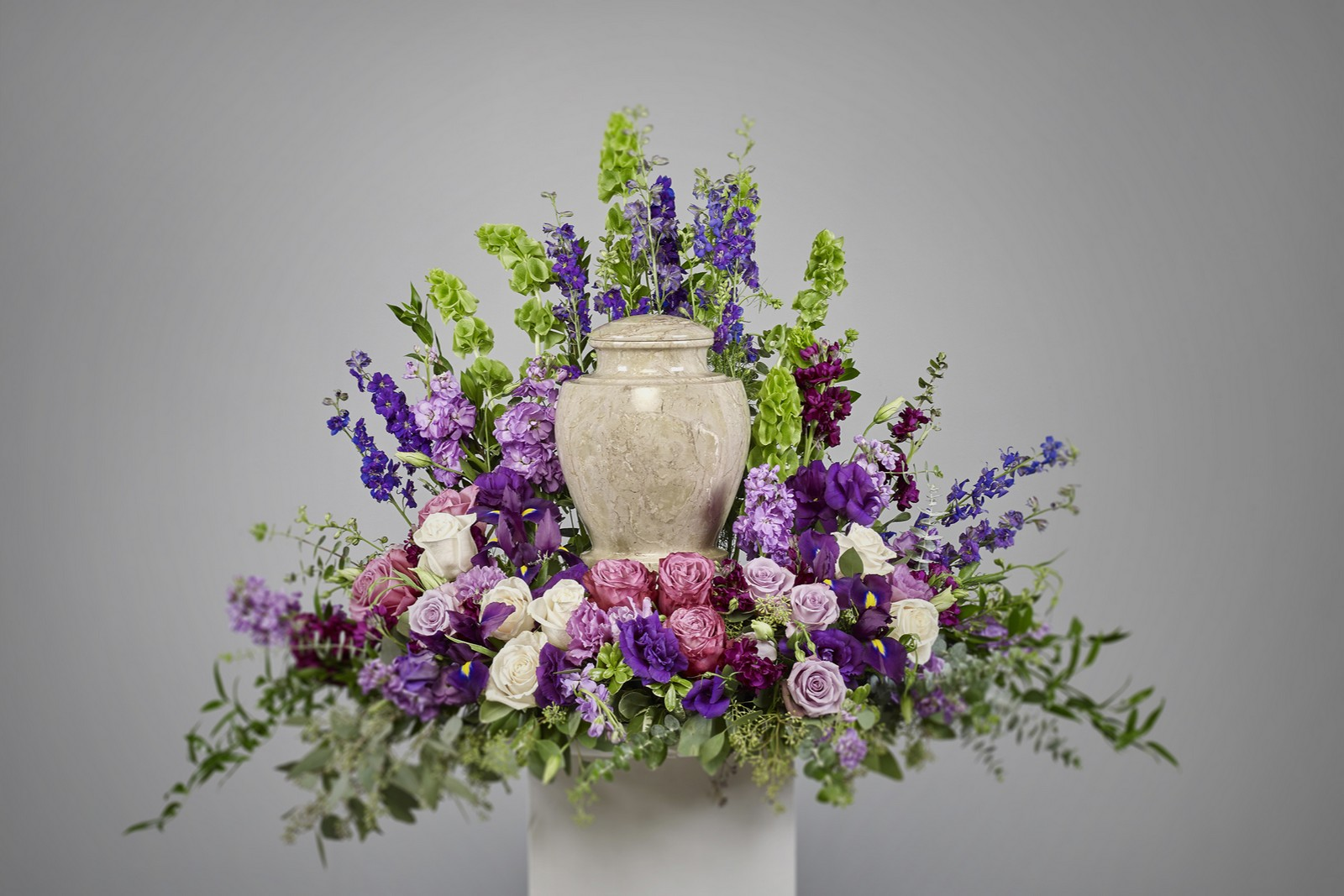 Purple Cremation Arrangement Ramsgate Floral Designs