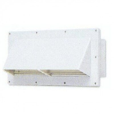 ventline exterior exhaust vent cover with damper white