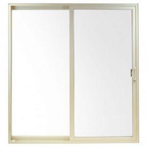 croft 72 x 76 patio door white vinyl frame door opens left right