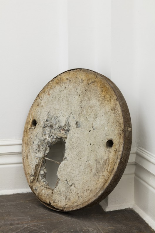You Need to Talk 你需要说话, SU Chang 苏畅, 2015. Concrete, iron and stone 水泥、铁和石子, 58 x 58 x 5 cm