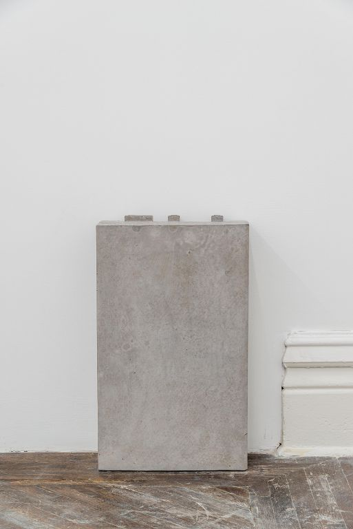 张如怡,《比重》,混凝土和铁,29 x 13.2 x 47.8 cm,2016 / Zhang Ruyi, Density, Concrete and iron , 29 x 13.2 x 47.8 cm, 2016