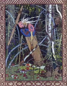 Baba Yaga Illustration - Russian folklore