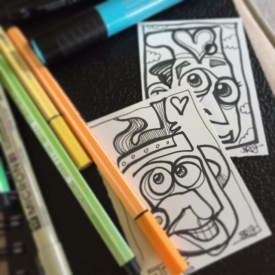 This is an example of the artist sketch card you get at the top level.