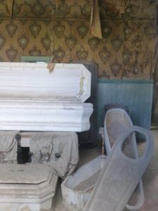 Abandoned Coffins left as they were