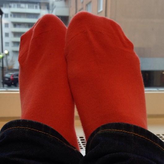 Fina höstfärgade strumpor från F Dandy