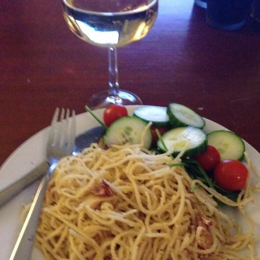 Carbonara och vin