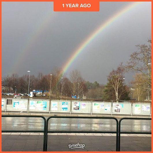 För ett år sedan träffades vi för första gången och precis som i myten om vad man finner i slutet av regnbågen så fann jag lyckan då.