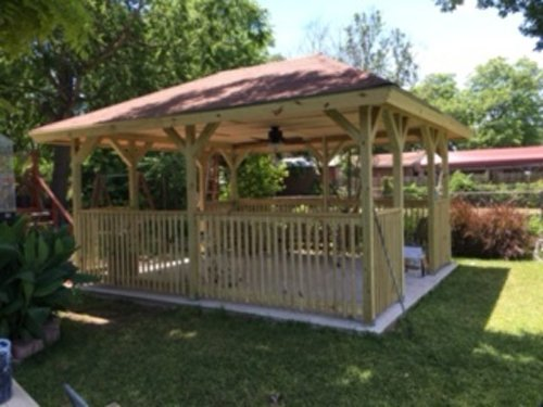 Gazebo build by R & M Flooring in San Antonio, TX