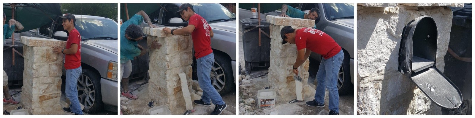 Best Stone Masonry in San Antonio, TX Mailbox Project