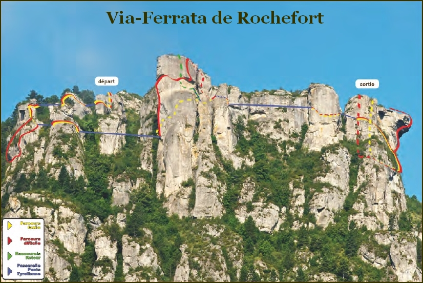 VIA-FERRATA DU ROCHEFORT FLORAC