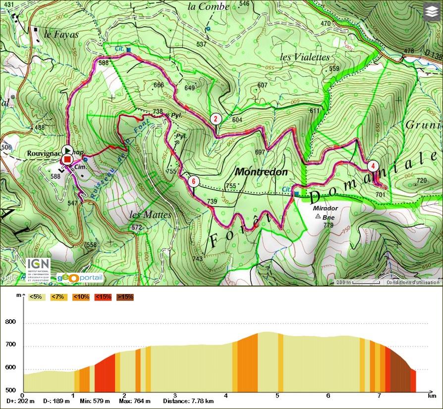 Le Mont Redon randonnee Ceilhes  Avène les bain foret domaniale des Monts d'Orb