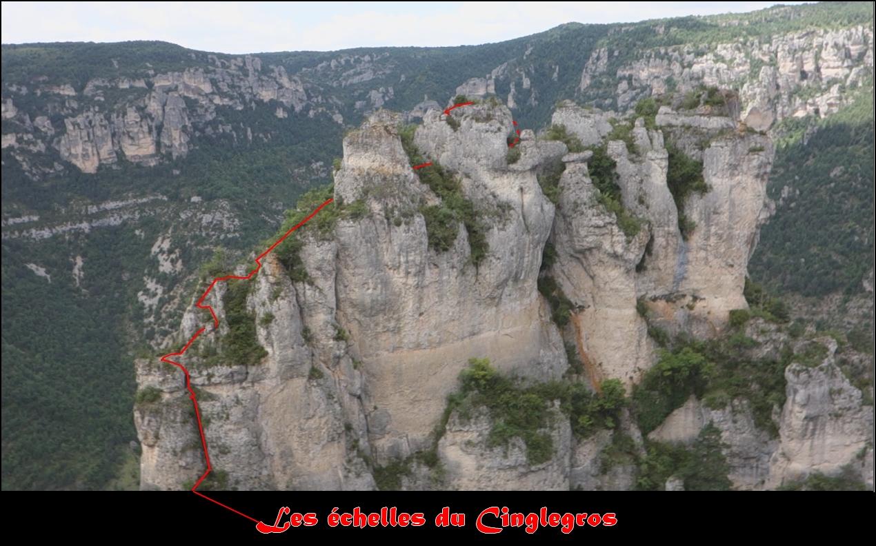 Les echelles du  rocher de Cinglegros