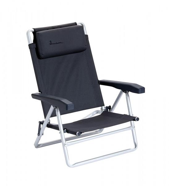 chaise de plage pliable avec coussinet