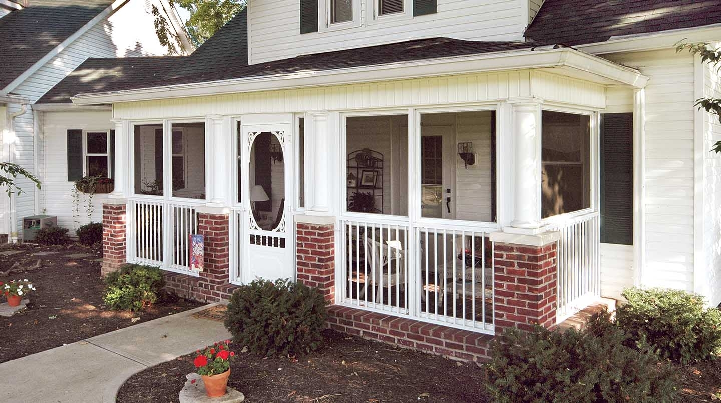 Enclosed Front Porch Curb Appeal