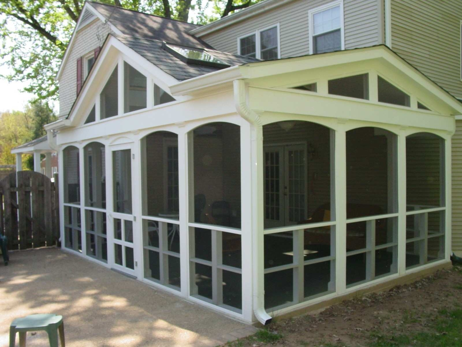 Enclosed Front Porch Before And After Randolph Indoor