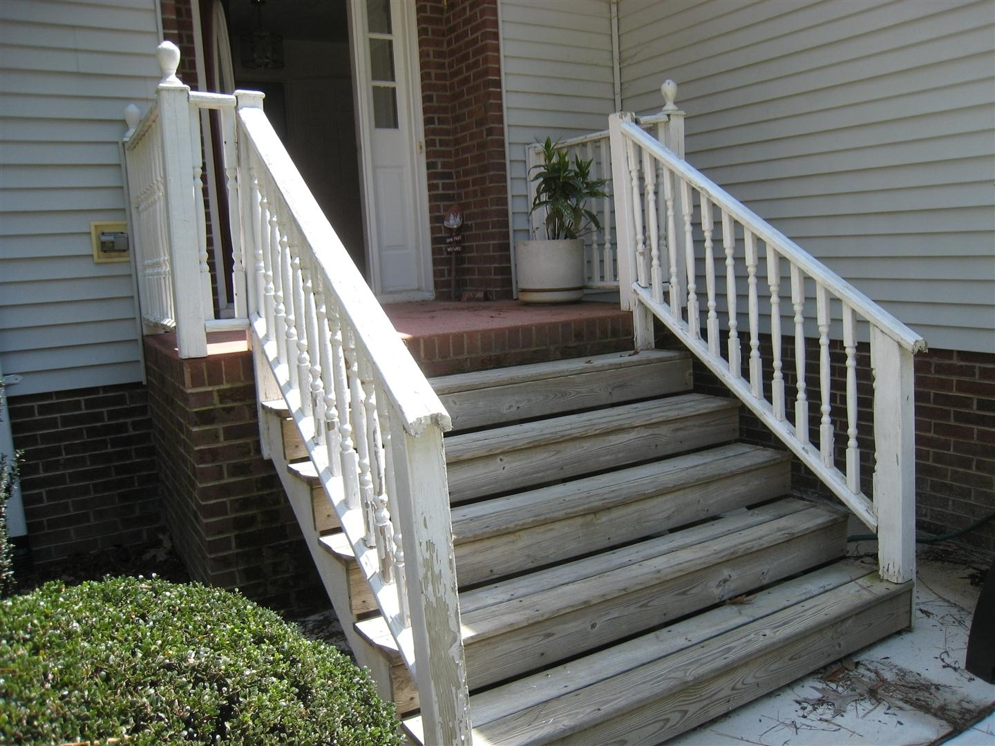 Wooden Handrails For Outdoor Porch Steps — Randolph Indoor And | Wooden Handrails For Outside Steps | Staircase | Building | Wrought Iron | Concrete Steps | Deck