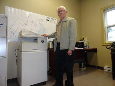 Bill King Donating Photocopier