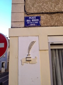 plaque de rue